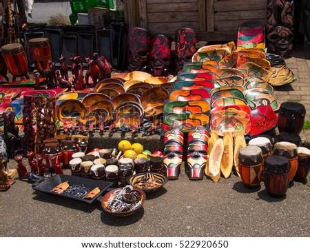 Souvenir shop in South Africa #522920650