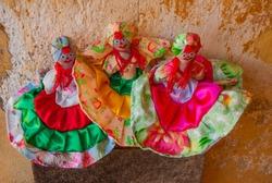 Souvenirs from Cuba. Sale of Souvenirs for tourists. Rag doll.