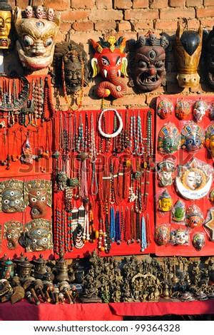 Souvenirs in Kathmandu, Nepal