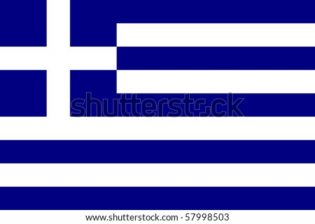 Sovereign state flag of country of Greece in official colors.