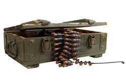 soviet army box of ammunition isolated