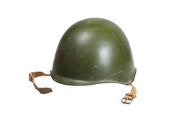 Soviet army Helmet Second World War isolated on white