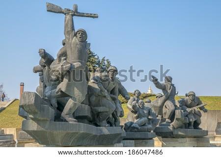 Soviet era World War 2 memorial in Kiev Ukraine