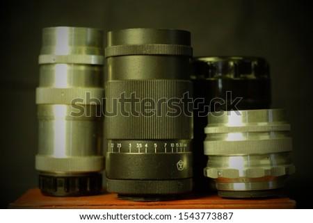 Soviet USSR manual lenses for photography