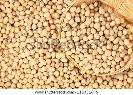 soy bean with bamboo basket