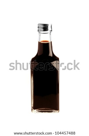 Soy sauce bottle isolated on white