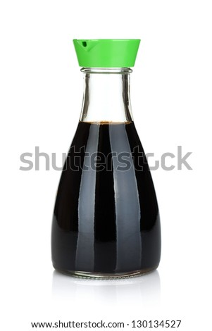Soy sauce bottle. Isolated on white background