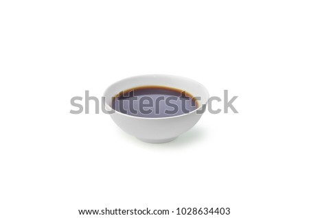 Soy sauce isolated on white #1028634403