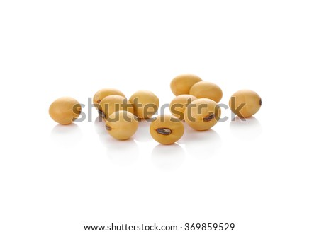 Soybean isolated on white background #369859529