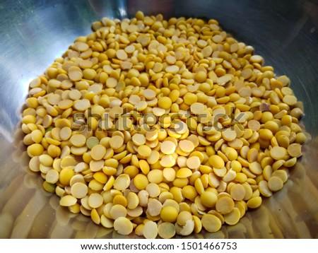Soybeans, Split in half for made soy milk or tofu,Vegetarian Festival, Vegetarian Food