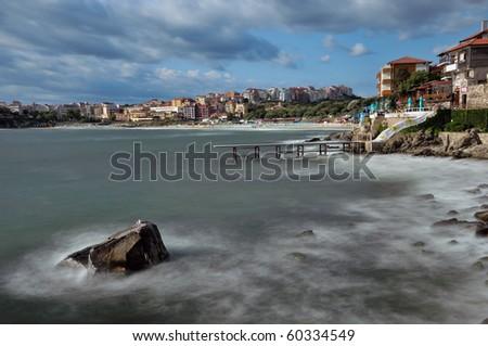Sozopol coastline at Black Sea in Bulgaria