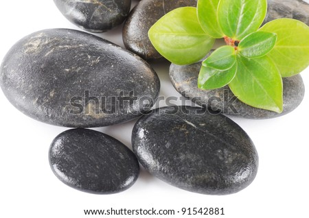 Spa a stone isolated on white background
