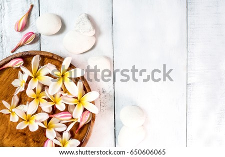 Spa and massage decoration on white background #650606065