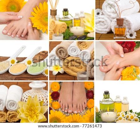 Lifestyle - Pagina 6 Stock-photo-spa-aromatherapy-massage-pedicure-collage-77261473