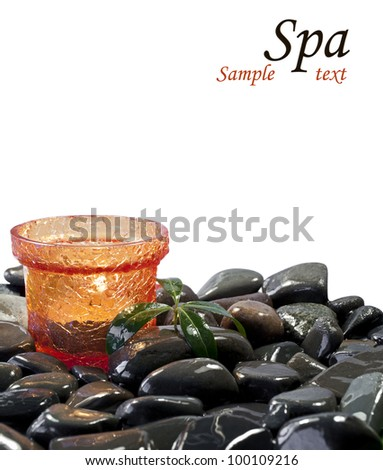 Spa background isolated on white. - stock photo