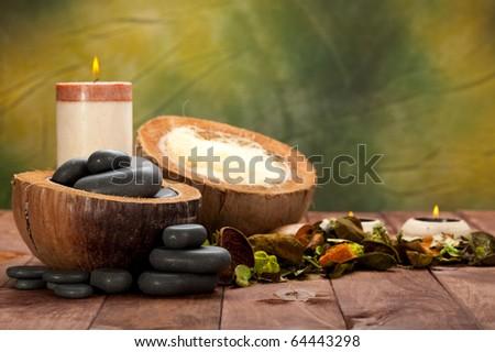 Spa basalt stones