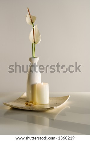 Spa candle with flowers