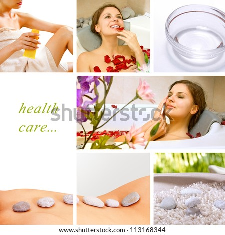 Spa Collage.Dayspa concept composed of different images