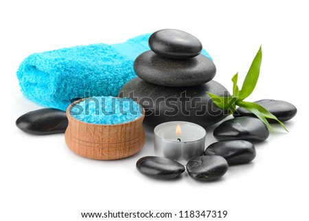 spa composition with soap and toning sea crystals