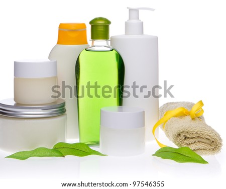 spa cosmetics isolated on white background