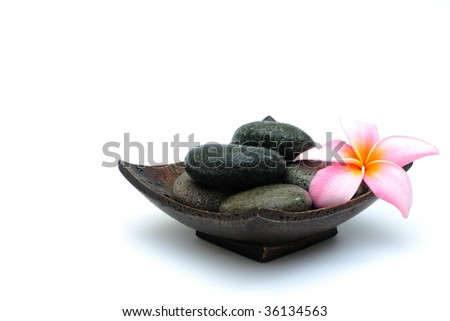 spa deco on white background