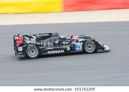 SPA FRANCORCHAMPS - MAY 3: Franck Mailleux, Olivier Lombard, Jordan Tresson in the Oreca 03 Nissan racing on May 6, 2012 in the 6 hours race of Spa Francorchamps, Belgium