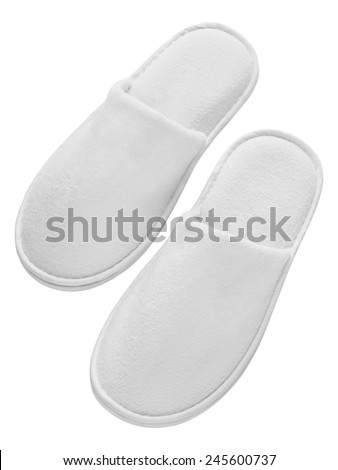 Spa, hotel, wellness - home slippers isolated