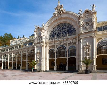 Spa Marianske Lazne - colonnade, Bohemia