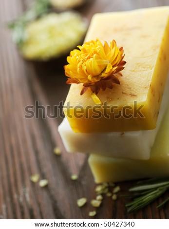 Spa.Natural Soap - stock photo