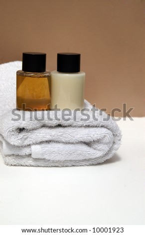 Spa Products on towel #10001923