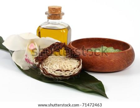 spa setting - stock photo
