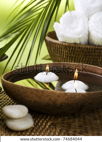 Spa settings - stock photo