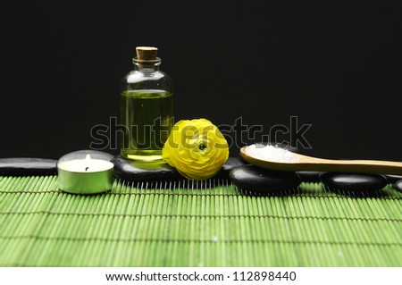Spa Settings on green mat