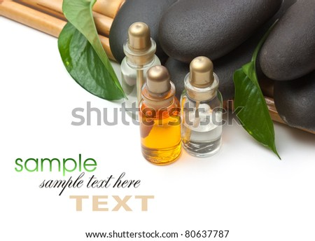 spa stone isolated on a white background