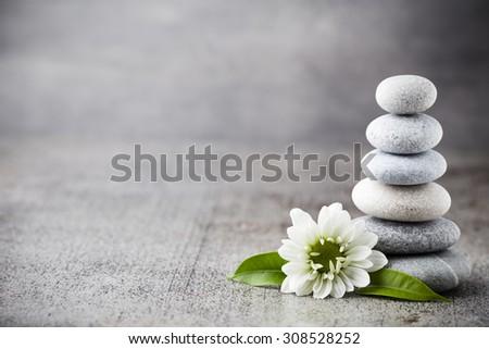 Spa stones treatment scene, zen like concepts.