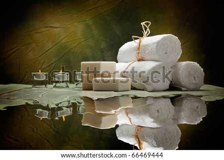 Spa supplies - soap and towels