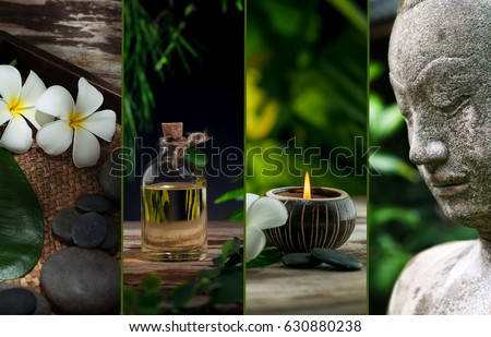 spa theme collage composed of different images  #630880238