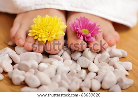 spa treatment for woman legs