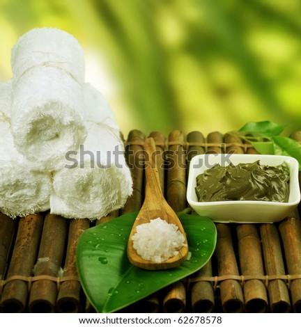 Spa Treatment.Mud Mask and Sea Salt