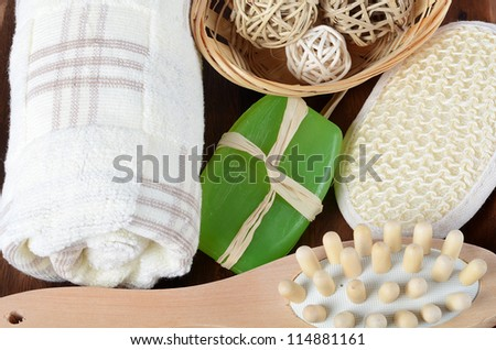 Spa Treatments as a background close up