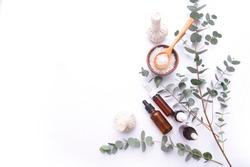 Spa wellness with aromatherapy theme . spa background
