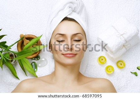 Spa woman - stock photo