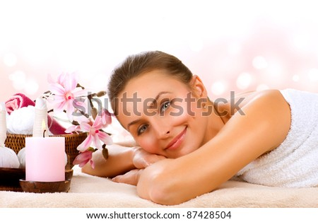 Spa Woman.Day Spa - stock photo
