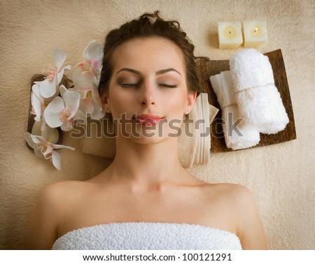 Spa Woman in Beauty Salon - stock photo