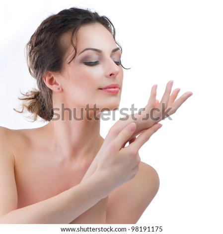 Spa Woman.Soft Skin. Hands