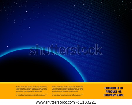Space Abstract Design artwork,  Design  template ready for web page design, brochures, books, banners, stationary or Press Kits