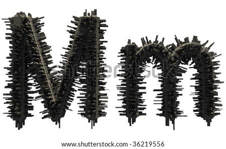 Space alien font Stock fotó ©