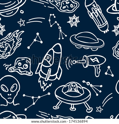 space and alien background