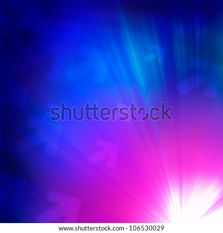 Space background with luminous light beam
