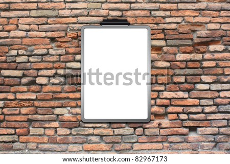 Space brick wall with posters
